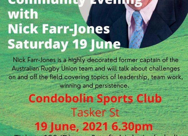 Community Evening with Nick Farr-Jones